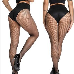 Fishnet Seamless Pantyhose/black